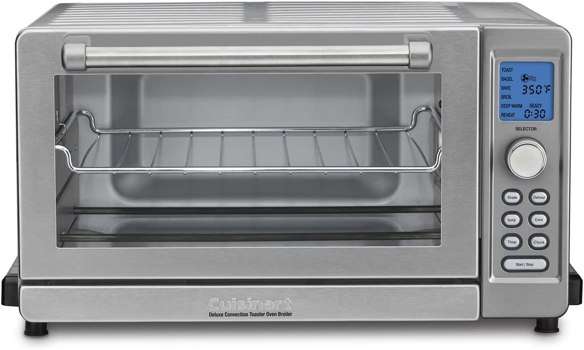 Cuisinart TOB-135 Deluxe Convection Toaster Oven Broiler, Brushed Stainless, 9.3 x 18.3 x 15.3 , Silver