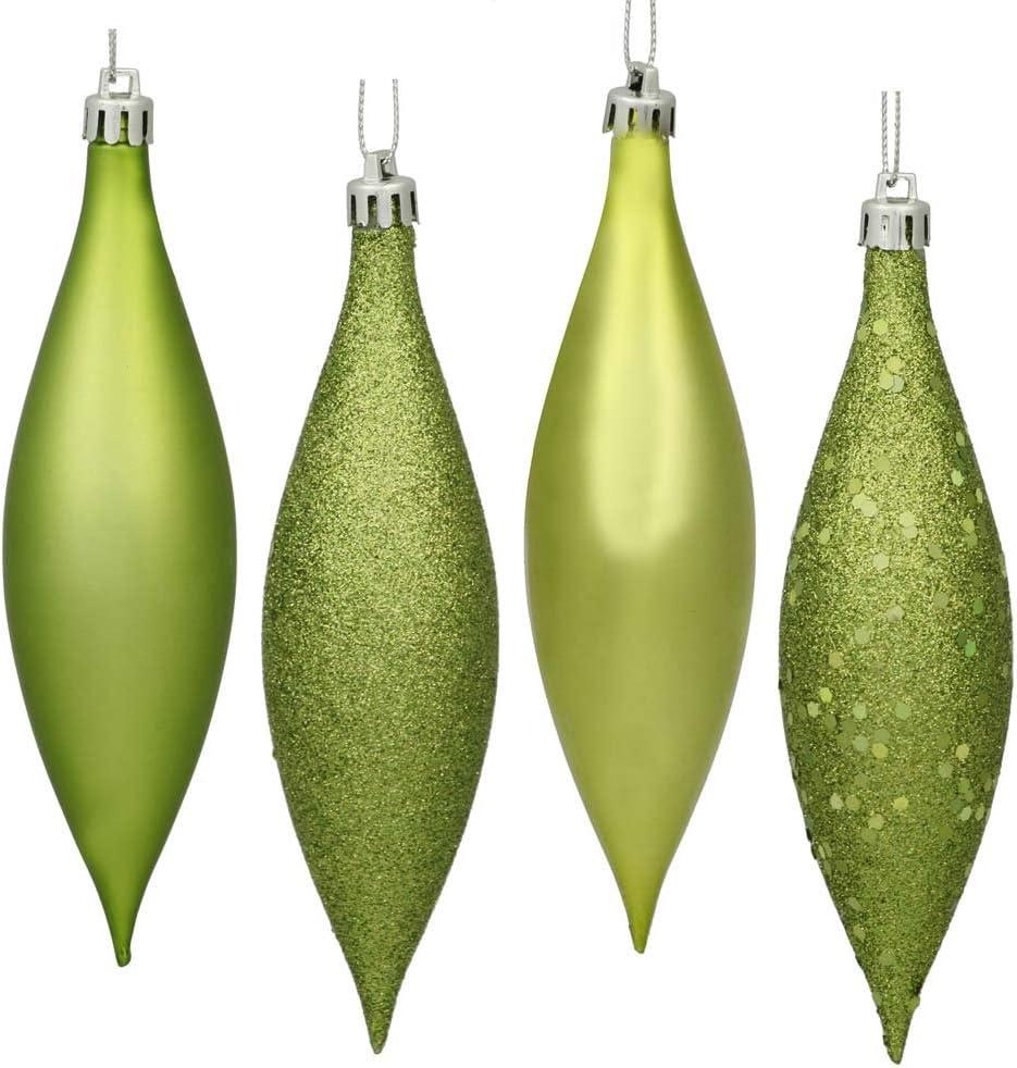 Amazon Com Vickerman 4 Finish Drop Ornament 140mm Lime Home Kitchen