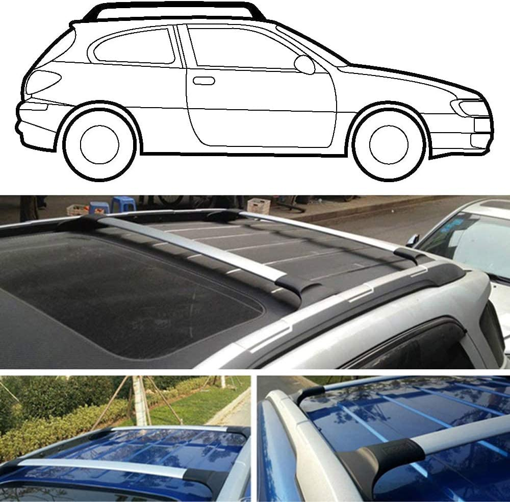 Xddxiao Auto Styling Aluminiumlegierung Seitenstangen Kreuzschienen Dachgepäckträger Gepäckträger 2 Stücke Für Ford Ecosport 2013 2020 Schwarz Küche Haushalt