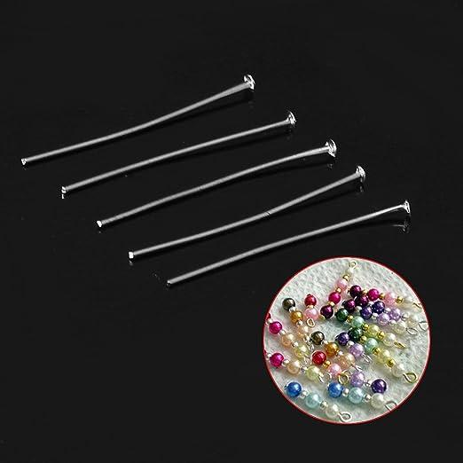 200pcs Silver Plated Head Pins 21GA 1.5//35mm ~Jewelry Making~