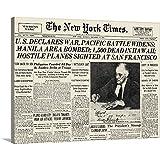 "GREATBIGCANVAS Gallery-Wrapped Canvas Entitled World War II: Headline, 1941 by 16""x12"""