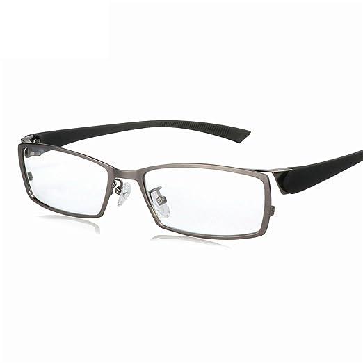 08ab8dd9ecbf Amazon.com  Surprising Day Business Leisure eyeglasses frame Titanium Alloy glasses  frame myopia Men eye frame box black Transparent Female Male Oculos ...