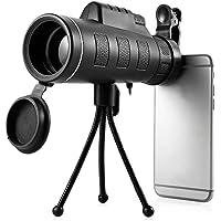 ENbeautter Moda 40x60 Telescopio para Celular De Alta Potencia HD telescopio de visión Nocturna Telescopio óptico de Tubo único For iPhone 6 Smartphone so on