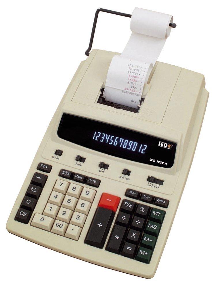Tischrechner LEO-1232A 12stellig Druckwerk LCD Display 57mmAddirolle HOFFBAUER AG nfqmku