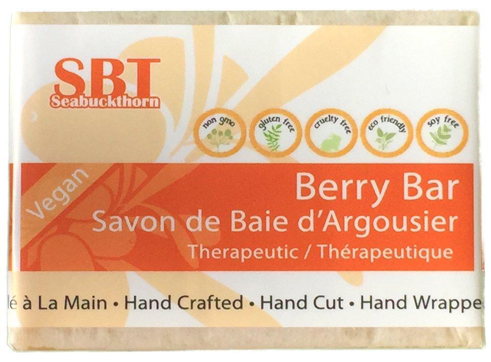 Berry (Facial Cleansing) Bar - Nourishes, Hydrates, Softens, & Clarifies Skin - 100% Natural, Vegan, & SLS Free - 110+ grams SBT Seabuckthorn