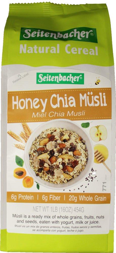 Seitenbacher Muesli #8 - Desayuno de alta fibra de miel Chia ...