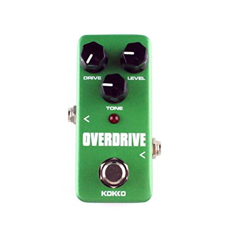 KOKKO FOD3 Mini Overdrive Guitarra eléctrica efecto Pedal Tube Overload Stompbox (Color: verde)