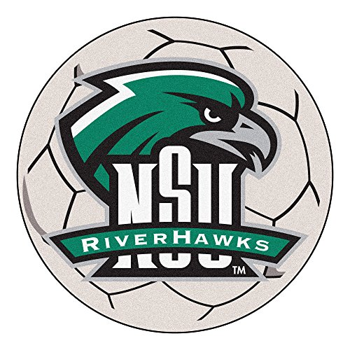 FANMATS NCAA Northeastern State University RiverHawks Nylon Face Soccer Ball Rug - Fanmats Northeastern University