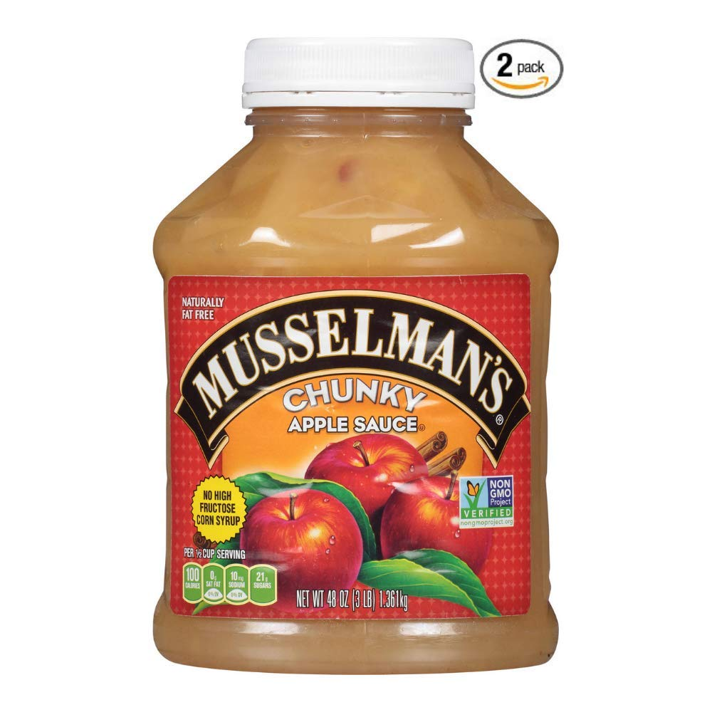 Musselman's Chunky Apple Sauce, 48 Ounce (Pack of 2) by Musselmans (Image #1)