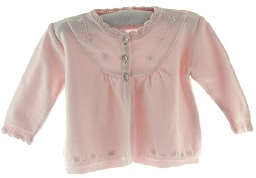 Amazon.com: Infant Girls Pink Dressy Cardigan Sweater with Pearls ...