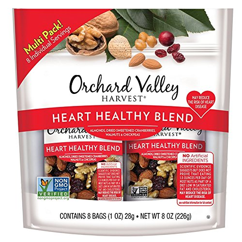 (ORCHARD VALLEY HARVEST Heart Healthy Blend, Non-GMO, No Artificial Ingredients, 1 oz (Pack of 8))