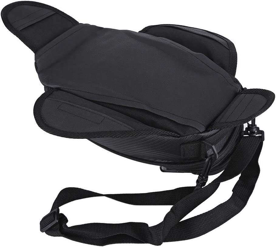 Resistente para Tanque de Combustible magn/ética Impermeable Goick Bolsa para Motocicleta: Bolsa Universal para Motocicleta Negro