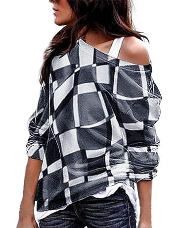 Blusa Mujer, LANSKIRT Blusas Camisetas de Gasa Ropa de Mujer Suéter Jersey Camisas Manga Ajustable