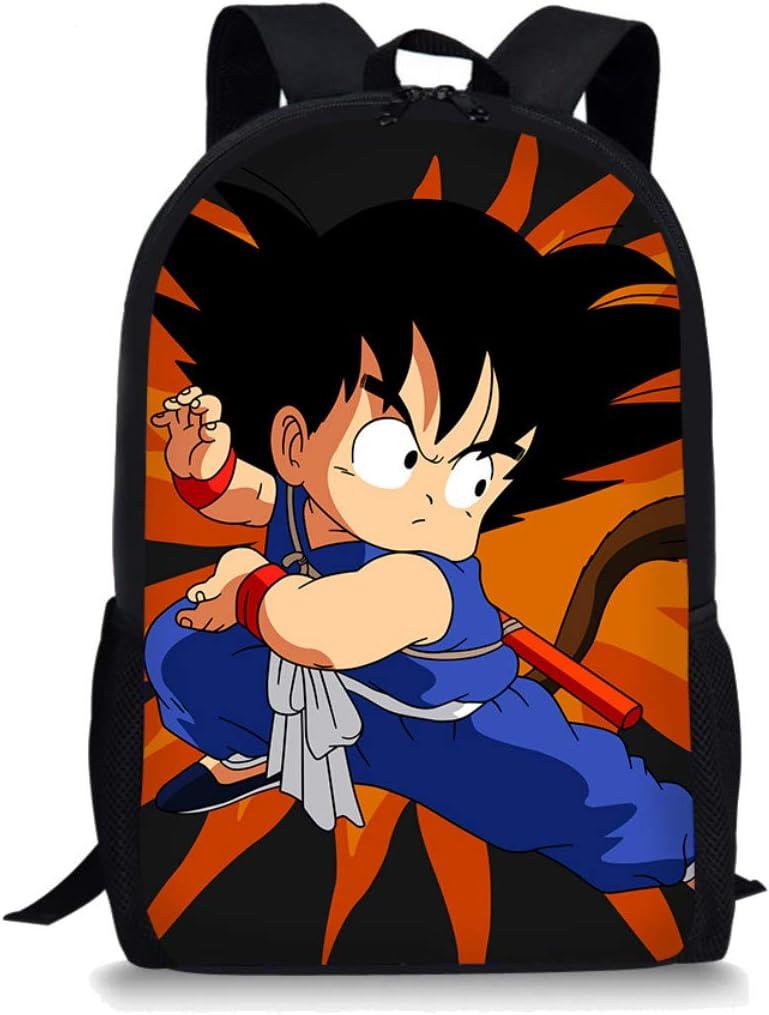 Boatee Dragon-Ball Cool Kids Backpack for Boys Girls Children School Bag Casual Printed Backpack