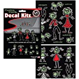 Zombie Family Auto Car Truck SUV Vehicle Garage Home Office School 3D Decal Set - Decal Kitz