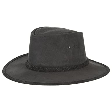 BC Hats Stockman Australia Australian Swagman Hat Men s Hat with Leather  Band - Black - Large 9c7ce3c36fc7