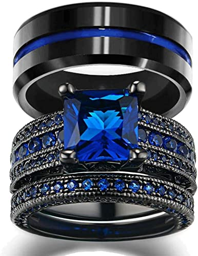 Amazon Com Loversring His And Hers Wedding Ring Sets Couples