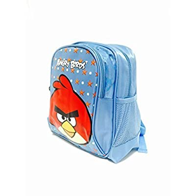Angry Birds Light Blue Comfort Shoulder Strips Backpack - Small: Toys & Games