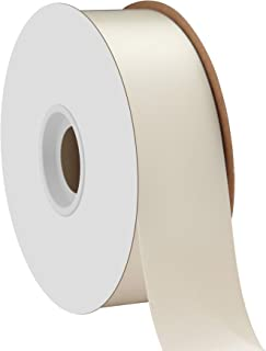 "product image for Berwick Offray 1.5"" Single Face Satin Ribbon, Antique White Ivory, 50 Yds"