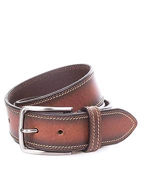 Miguel Bellido Cinturón Jeans Piel Marrón 115cm 0.06Kg: Amazon.es: Equipaje