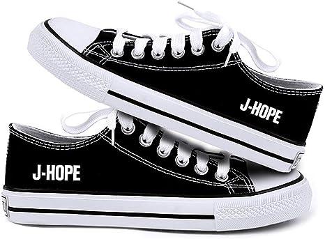 BTS Shoes Kpop Bangtan Boys High Top Sneakers Jimin V Hiphop Sports Canvas Shoes