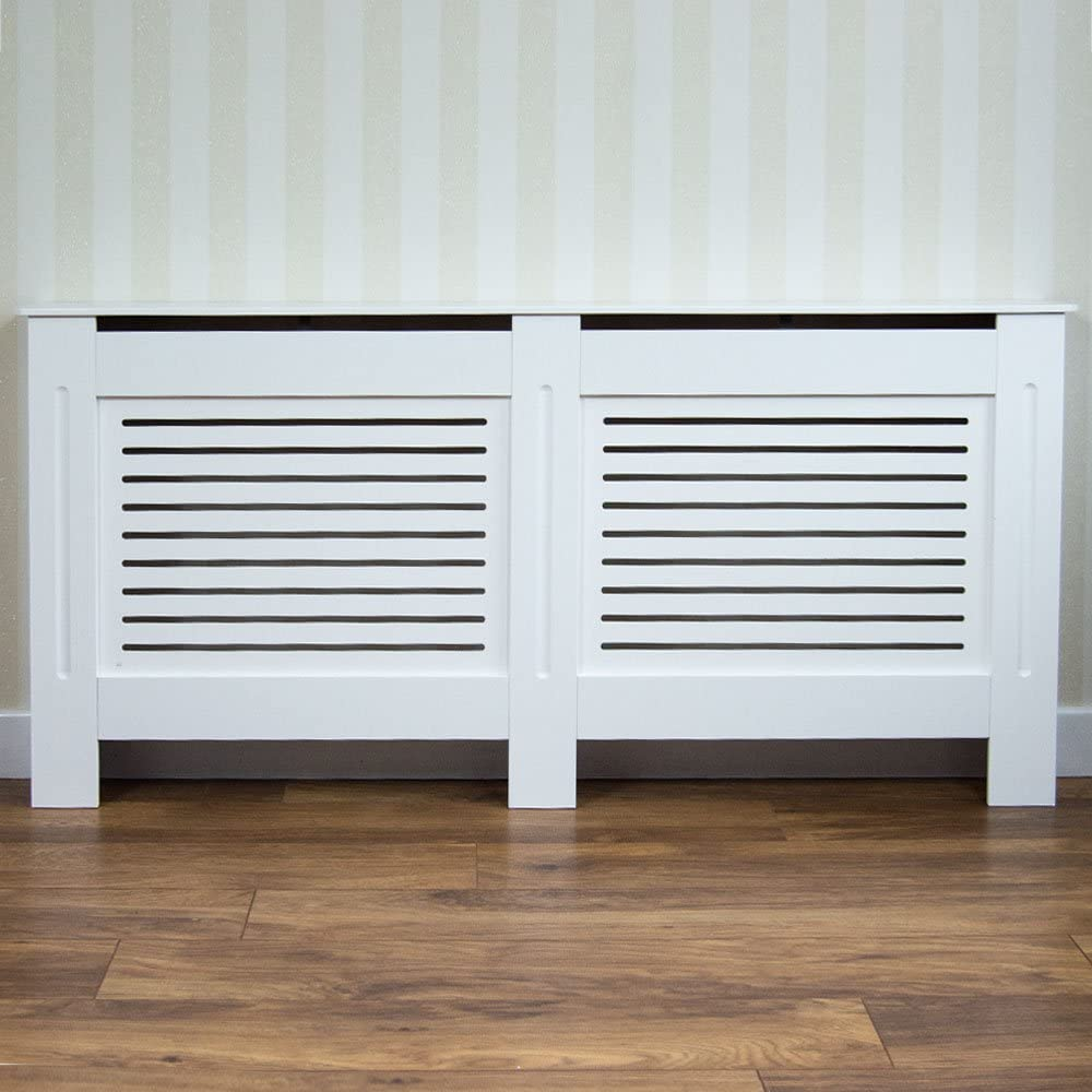 Vida Designs Milton Radiator Cover Modern White Painted Mdf Cabinet Medium Amazon Co Uk Kitchen Home