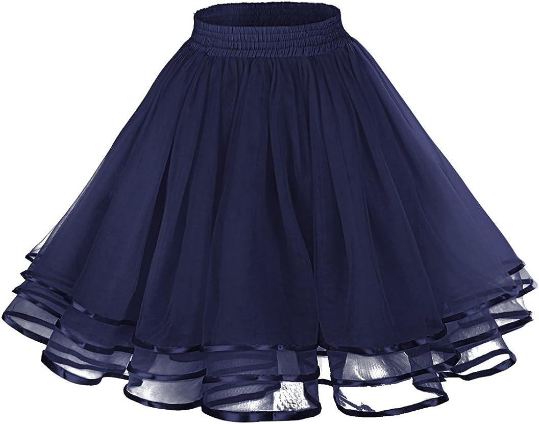 LaceLady Womens Vintage Petticoat Tutu Underskirt Crinoline Dance Slip Belt