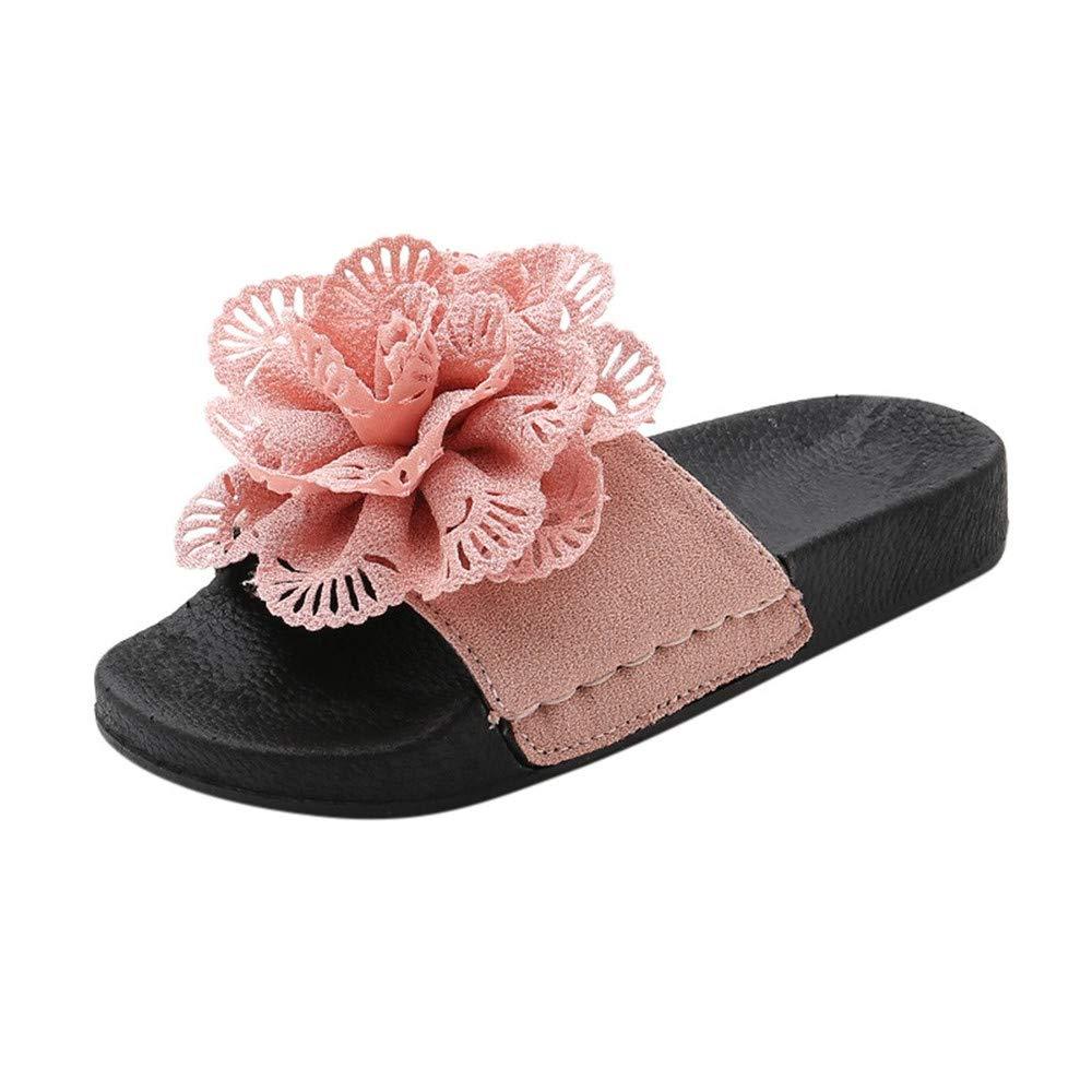 06b5c364f13a6 Amazon.com : Luonita Toddler Infant Kids Baby Girls Slippers Flower ...