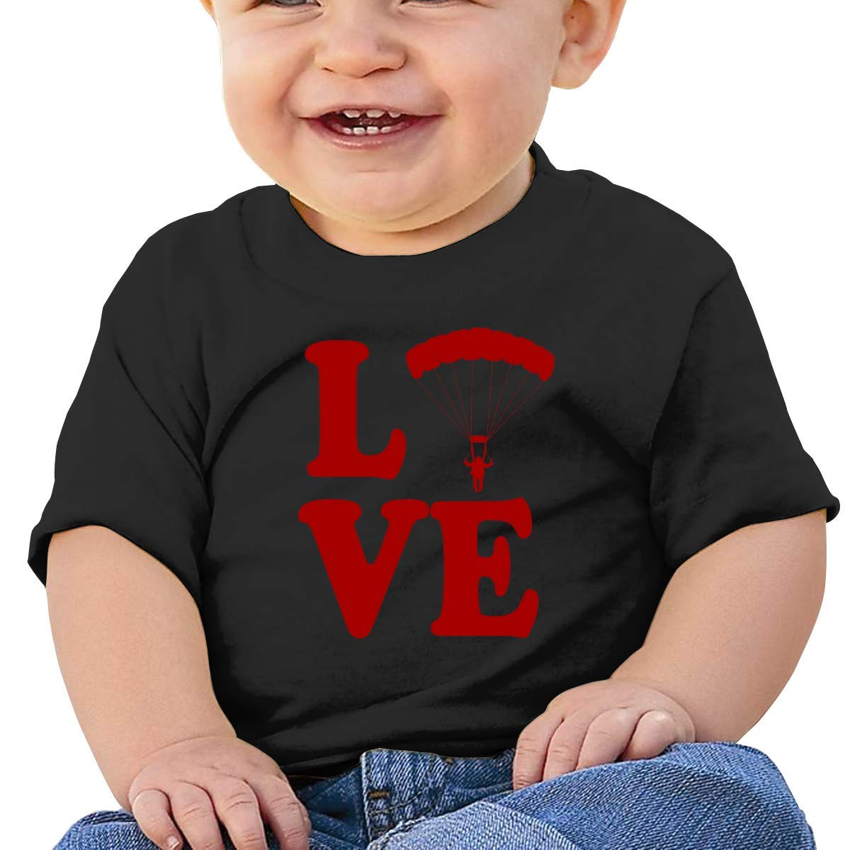 Love Skydiving Baby Boy Girl Newborn Short Sleeve T-Shirt 6-24 Month Soft Tops