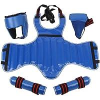 Guardia de Boxeo, 4 Pcs/Set Equipo de Guardia de Combate de Protección de Boxeo Coquilla Pecho Cabeza de Cuerpo Inferior Guardia de Pierna Universal para Muay Thai Taekwondo Karate