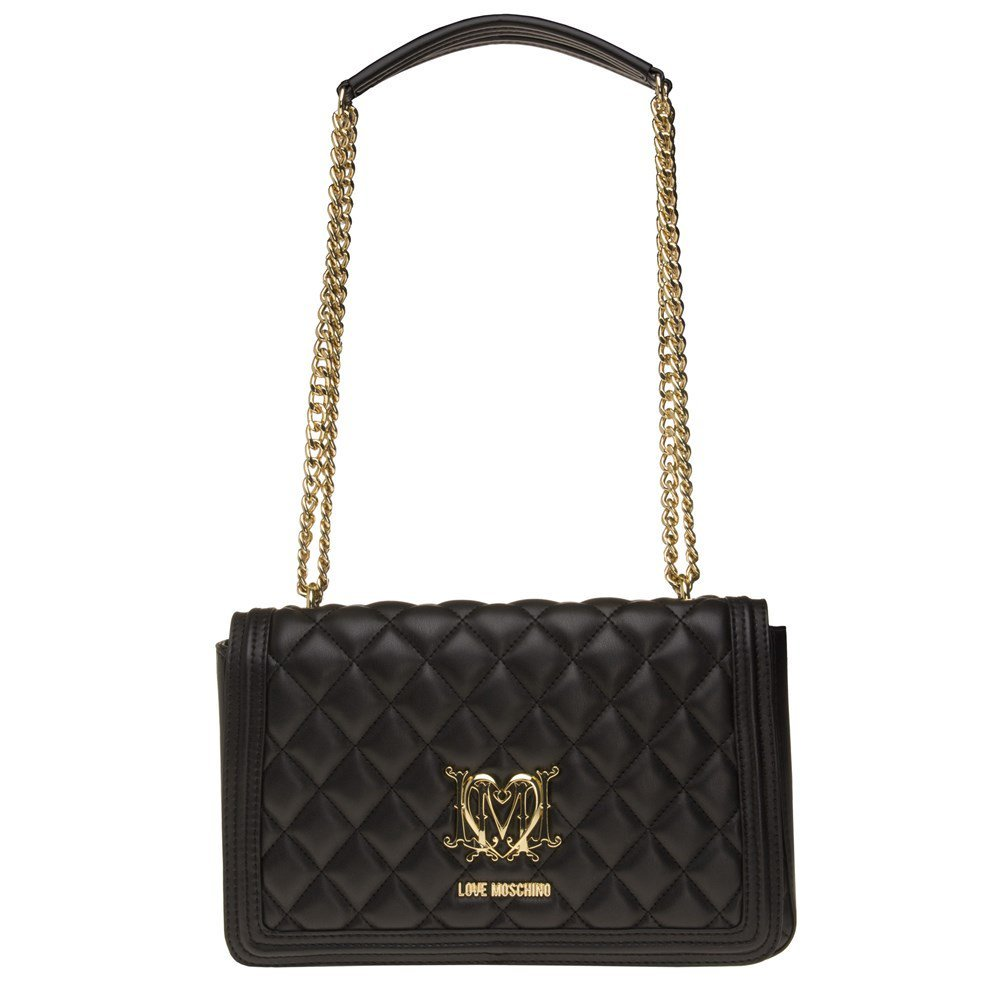 Love Moschino Quilted Chain Womens Handbag Black