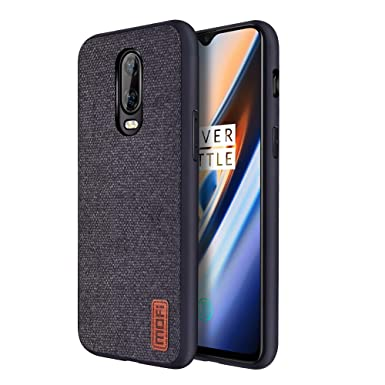 buy popular 384d4 e08a8 Mofi Oneplus 6T Case, Oneplus 6T Case Shockproof Bumper Easy to Hold  Protective Phone Case for Oneplus 6T - Black
