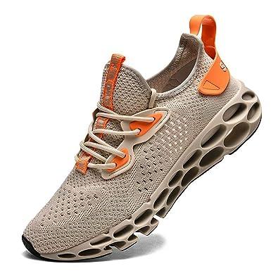 1a8a1fc4cee65 FUSHITON Chaussures de Sport Hommes Basket Running Compétition Training  Fitness Tennis Athlétique Sneakers Femme
