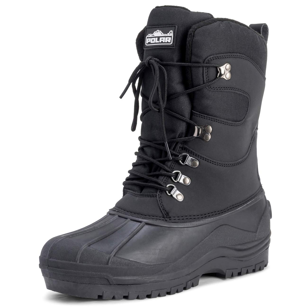 Polar Mens Snow Hiking Mucker Duck Grafters Waterproof Saftey Thermal Boots - Black - US11/EU44 - YC0445 by Polar