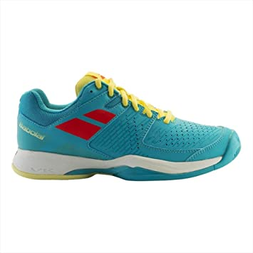 Babolat Pulsion All Court - Zapatillas de Tenis para Mujer, 31F17481, Blue/Yellow/Pink, 6 Reino Unido: Amazon.es: Deportes y aire libre