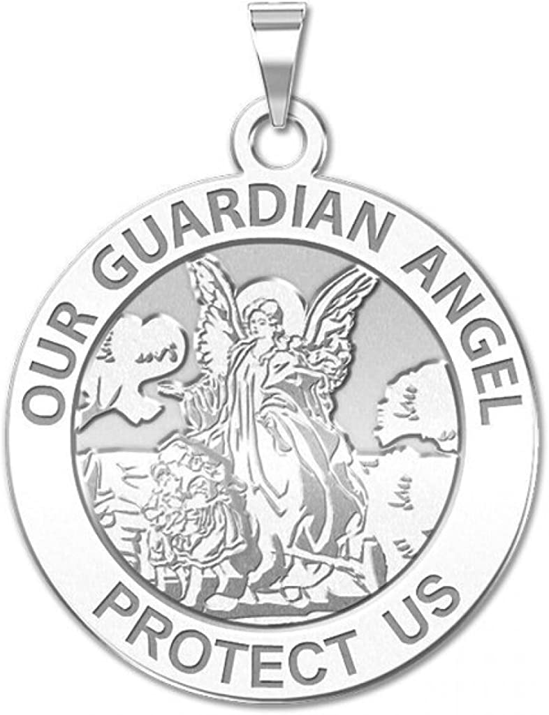 or in Sterling Silver Pendant Available in Solid 14K Yellow or White Gold PicturesOnGold.com Our Guardian Angel