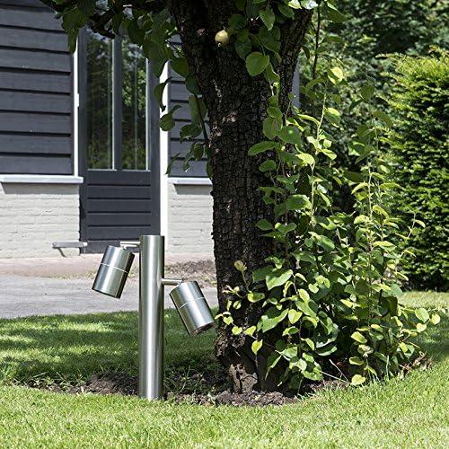 QAZQA Moderno Baliza para jardin SOLO 2 ajustable 35 acero Acero inoxidable Cilíndra/Alargada Adecuado para LED Max. 2 x Watt: Amazon.es: Hogar