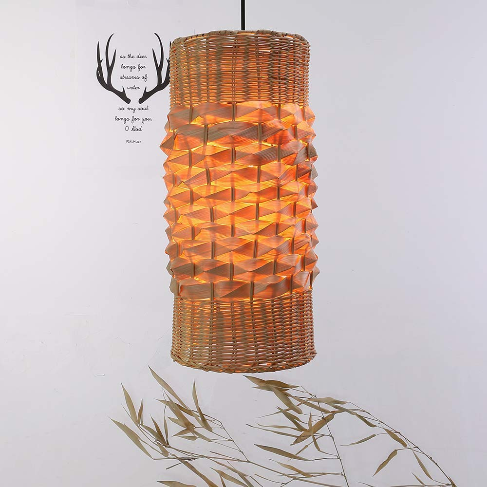 wholesale dealer 79ebb 1715c Amazon.com: Arturesthome Tropical Bamboo Hanging Lamp, Woven ...