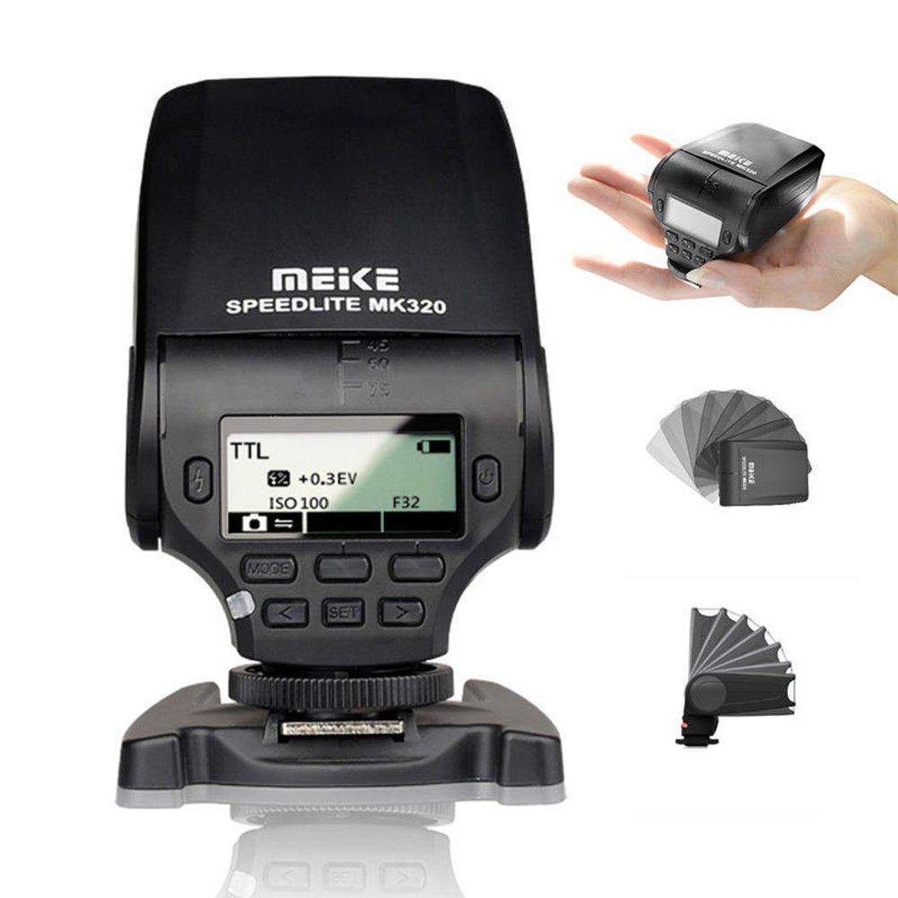 MeiKe MK-320N LCD i-TTL M RPT GN32 Mini Speedlite Flash LED Light For Nikon J1 J2 J3 D7100 D5300 D5100 D5200 D5000 D3300 D3200 D3100 D750 D810 D550 DSLR Cameras by Meike