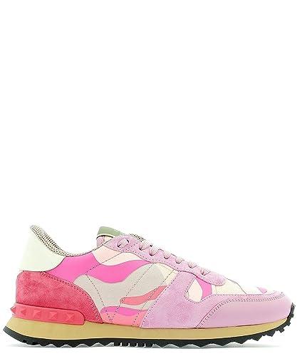 Valentino Mujer RW2S0291TCCBH7 Rosa Gamuza Zapatillas: Amazon.es: Zapatos y complementos