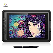 XP-Pen Artist10S IPS 10.1-Inch Drawing Monitor Pen Display Graphics Drawing Monitor with HDMI to Mac cable and Anti-fouling Glove (Black)