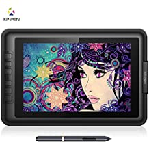 XP-Pen Artist10S V2 IPS 10.1-Inch Drawing Monitor Pen Display Graphics Drawing Monitor with HDMI to Mac cable and Anti-fouling Glove (Black)