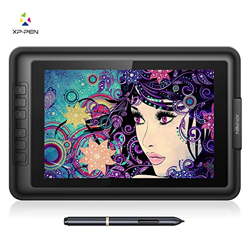 XP-Pen Artist10S V2 IPS 10.1-Inch Drawing Monitor Pen Display Graphics Drawing Monitor with HDMI to Mac cable and Anti-fouling Glove (Black) (Pen Display)