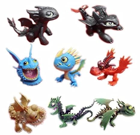 Amazon how to train your dragon playset 8 figure cake topper how to train your dragon playset 8 figure cake topper ccuart Gallery