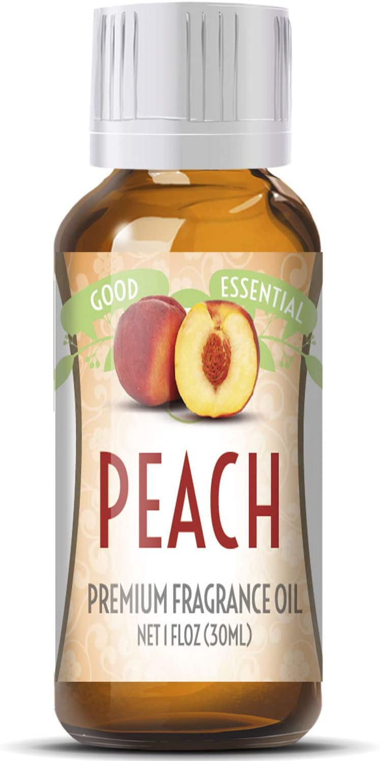 Peach Scented Oil by Good Essential (Huge 1oz Bottle - Premium Grade Fragrance Oil) - Perfect for Aromatherapy, Soaps, Candles, Slime, Lotions, and More!