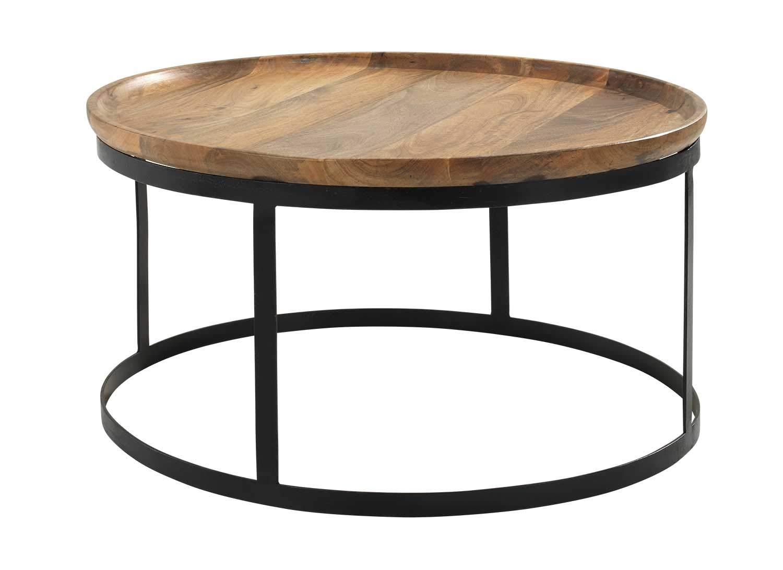 Couchtisch Major Ø 45 cm Beistelltisch Sofatisch Tisch Metall Marmor schwarz NEU
