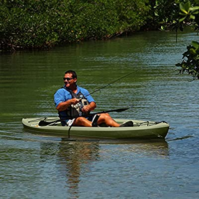 "90539 Lifetime Tamarack Angler Sit-On-Top Kayak, Olive, 120"" by Lifetime OUTDOORS"