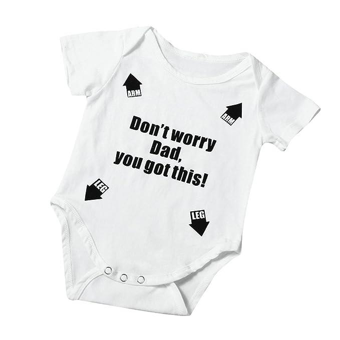 4cc6e9f8cb955 Clearance Sale 0-24 Months Newborn Infant Baby Kids Girl Boy Letter Print  Romper Jumpsuit Sunsuit Outfits Clothes