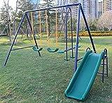 Best Swing Sets - KLB Sport Metal Swing Set w/ Slide Review