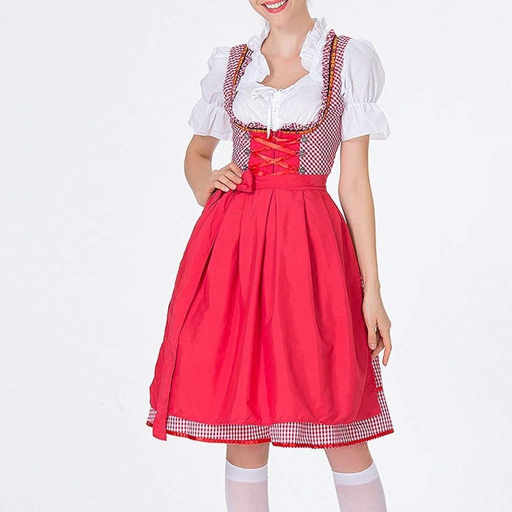 Goosun Dirndl marrón Traje de Tirolesa Vestido Moda Alemana de ...
